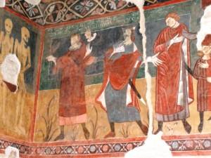 Atri:Duomo Incontro dei tre vivi e dei tre morti