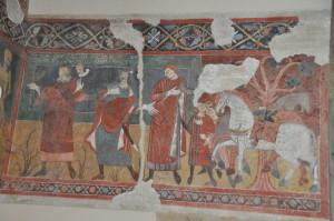 Duomo di Atri:incontro dei tre vivi e dei tre morti  ( N. Masci)