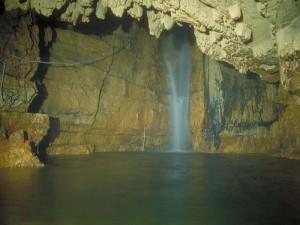 Grotte di Stiffe: Sala della cascata