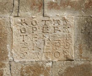 S.Pietro ad Oratorium: quadrato criptico